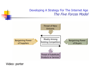 The Five Forces Model Developing A Strategy For The Internet Age