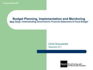 Budget Planning, Implementation and Monitoring Chris Droussiotis Step Three