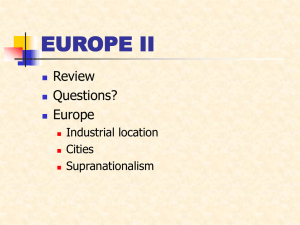EUROPE II Review Questions? Europe