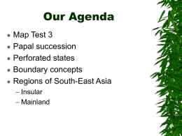 Our Agenda Map Test 3 Papal succession Perforated states