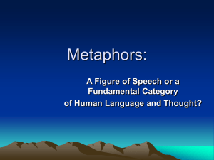 Metaphors: A Figure of Speech or a Fundamental Category