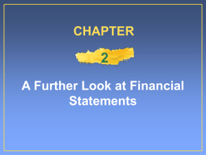2 A Further Look at Financial Statements CHAPTER