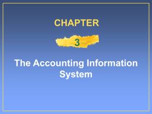 3 The Accounting Information System CHAPTER