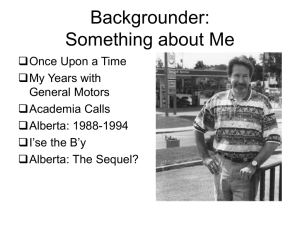 Backgrounder: Something about Me