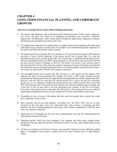 CHAPTER 4 LONG-TERM FINANCIAL PLANNING AND CORPORATE GROWTH