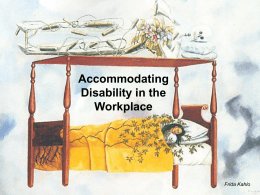 Accommodating Disability in the Workplace Frida Kahlo