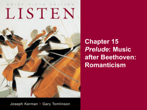 Chapter 15 after Beethoven: Romanticism Prelude