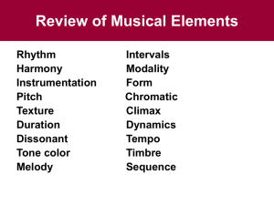Review of Musical Elements