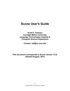 Scone User's Guide