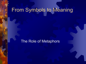 From Symbols to Meaning The Role of Metaphors
