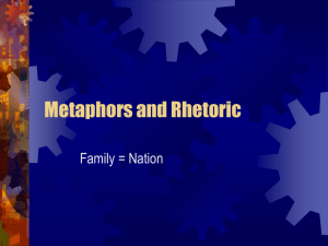 Metaphors and Rhetoric Family = Nation