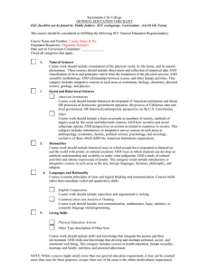 Sacramento City College GENERAL EDUCATION CHECKLIST