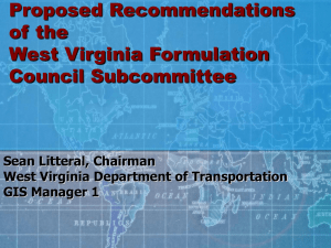 Proposed Recommendations of the West Virginia Formulation Council Subcommittee