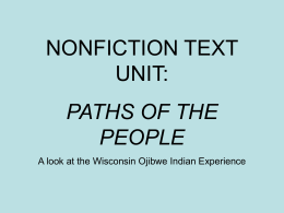 NONFICTION TEXT UNIT: PATHS OF THE PEOPLE