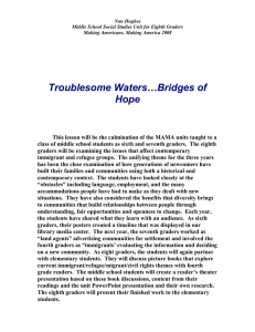 Troublesome Waters…Bridges of Hope
