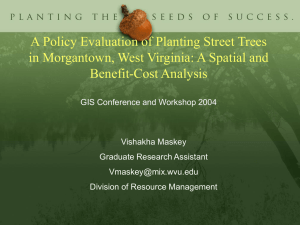 A Policy Evaluation of Planting Street Trees Benefit-Cost Analysis