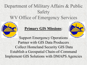 Department of Military Affairs & Public Safety WV Office of Emergency Services