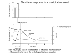 Short-term response to a precipitation event