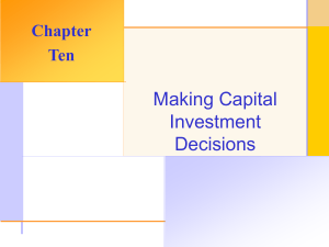 Making Capital Investment Decisions Chapter