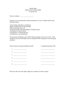 MGMT 4090 PEER EVALUATION FORM For group cases