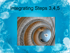 Integrating Steps 3,4,5