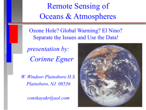Remote Sensing of Oceans & Atmospheres Corinne Egner presentation by: