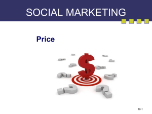 SOCIAL MARKETING Price 10-1