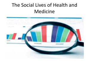 The Social Lives of Health and Medicine