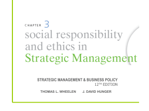 STRATEGIC MANAGEMENT & BUSINESS POLICY 12 EDITION