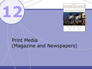 12 Print Media (Magazine and Newspapers)