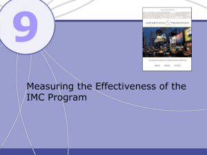 9 Measuring the Effectiveness of the IMC Program