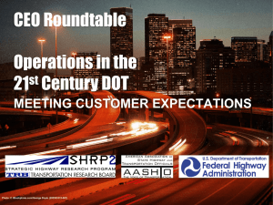 CEO Roundtable Operations in the 21 Century DOT
