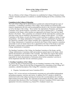 Bylaws of the College of Education Final Draft (5-11-11)