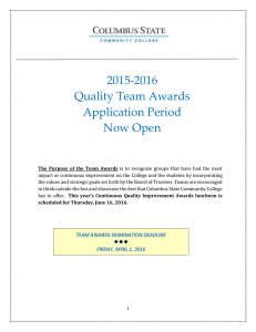 2015-2016 Quality Team Awards Application Period Now Open