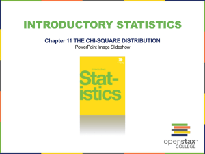 INTRODUCTORY STATISTICS Chapter 11 THE CHI-SQUARE DISTRIBUTION PowerPoint Image Slideshow