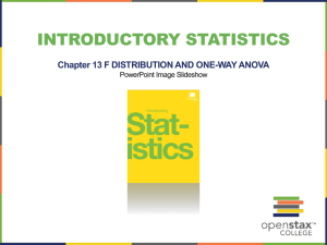 INTRODUCTORY STATISTICS Chapter 13 F DISTRIBUTION AND ONE-WAY ANOVA PowerPoint Image Slideshow