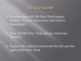In what ways did the New Deal impact Americans?