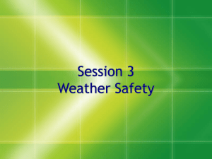 Session 3 Weather Safety