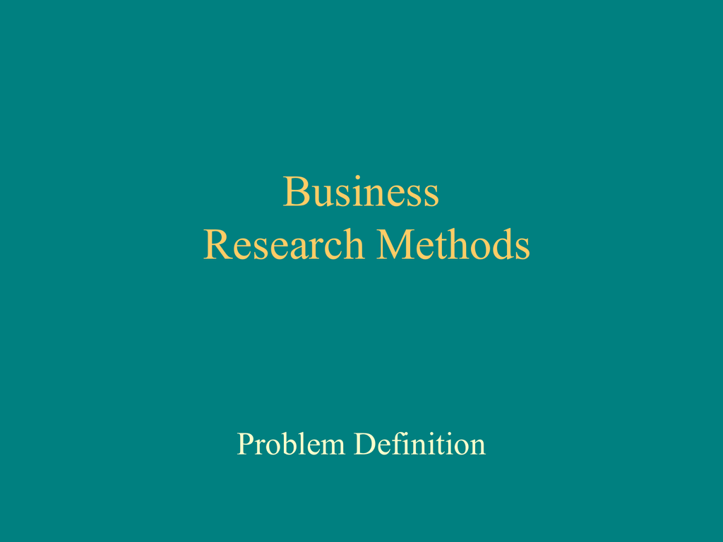 business research methods lecture notes ppt