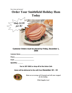 Order Your Smithfield Holiday Ham Today Only $3.99 per lb!