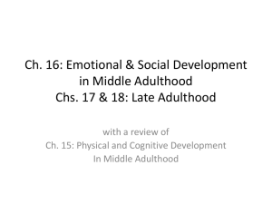Ch. 16: Emotional & Social Development in Middle Adulthood