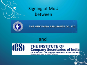 and Signing of MoU between
