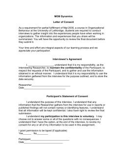 MOB Dynamics  Letter of Consent