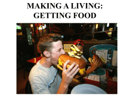 MAKING A LIVING: GETTING FOOD