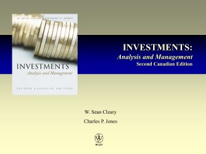 INVESTMENTS: Analysis and Management Second Canadian Edition W. Sean Cleary