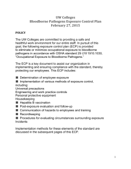 Exposure control plan template for Bloodborne pathogens policy template