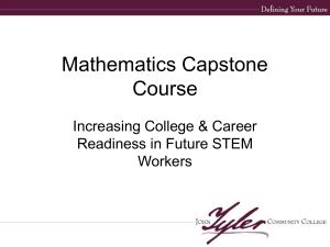 Mathematics Capstone Course Increasing College & Career Readiness in Future STEM