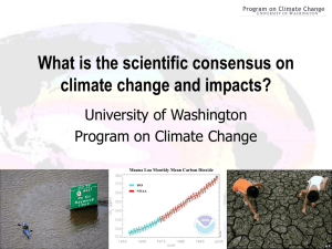 What is the scientific consensus on climate change and impacts?