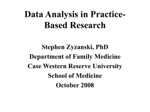 Data Analysis in Practice- Based Research