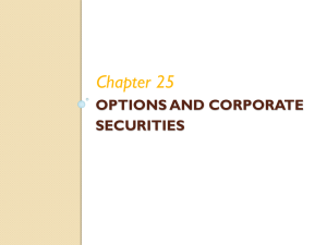 Chapter 25 OPTIONS AND CORPORATE SECURITIES